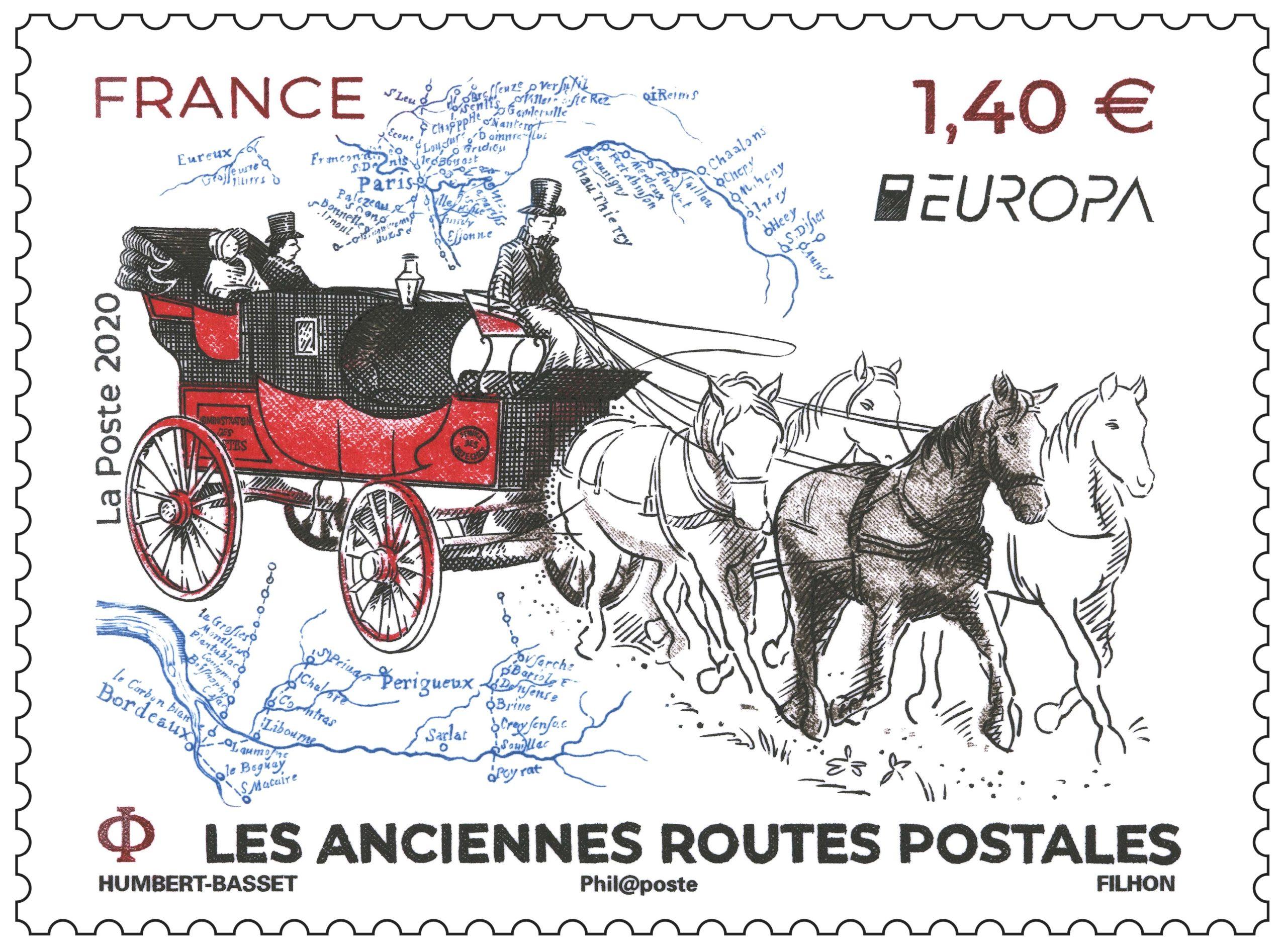 Les anciennes routes postales - Europa