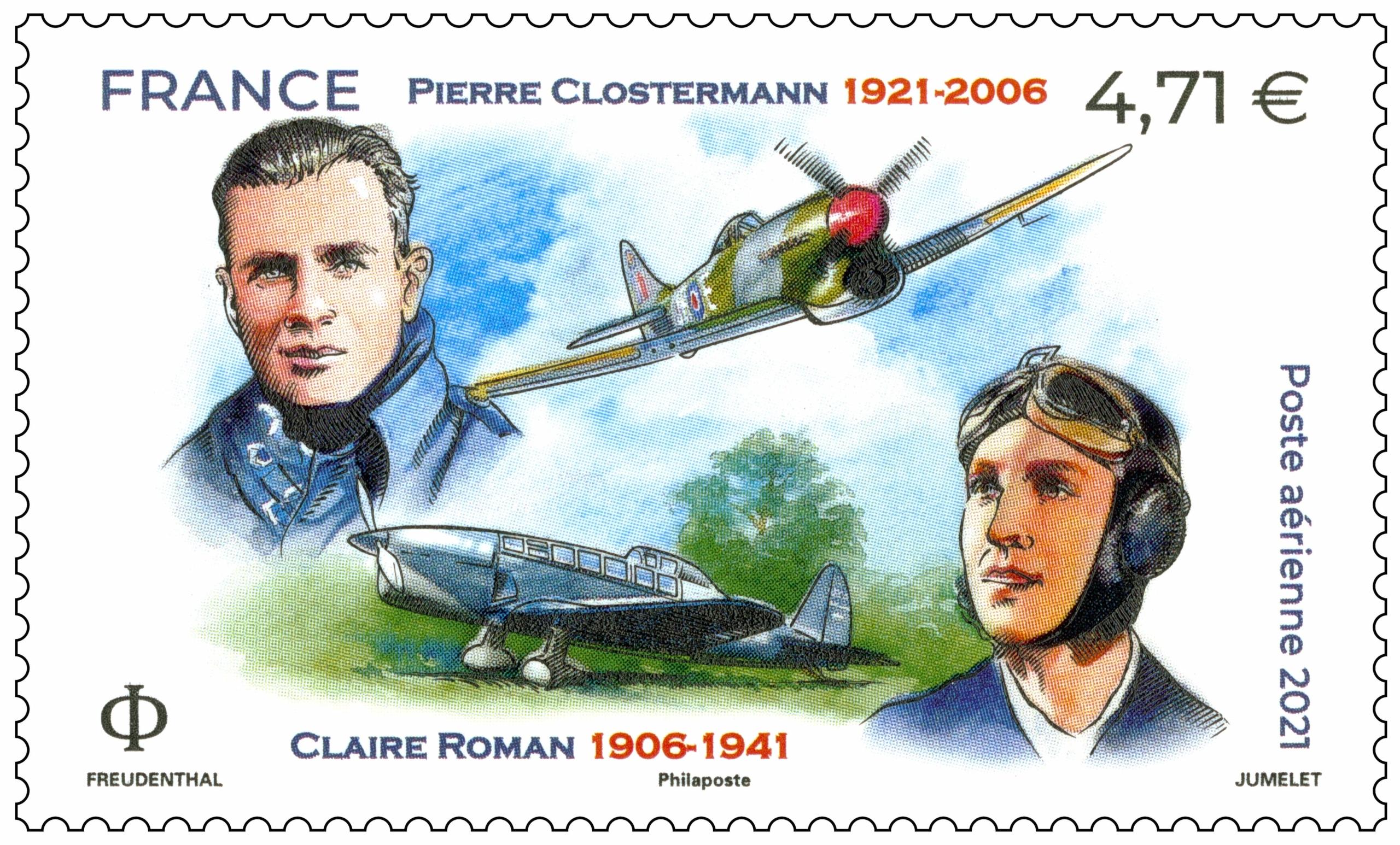 Pierre CLOSTERMANN  1921 - 2006 Claire ROMAN  1906 - 1941