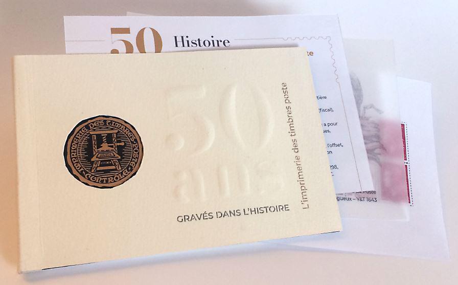 Livret 50 ans de l'Imprimerie « gravés dans l'histoire »