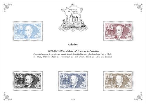 Patrimoine de France en timbres - édition 2021