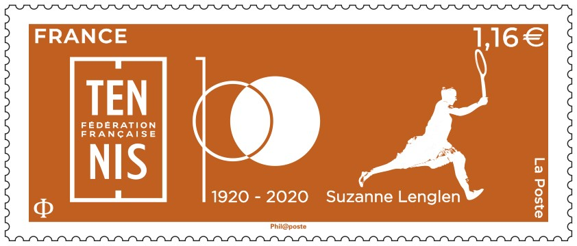1920-2020 Centenaire de la Fédération Française de Tennis – Suzanne Lenglen