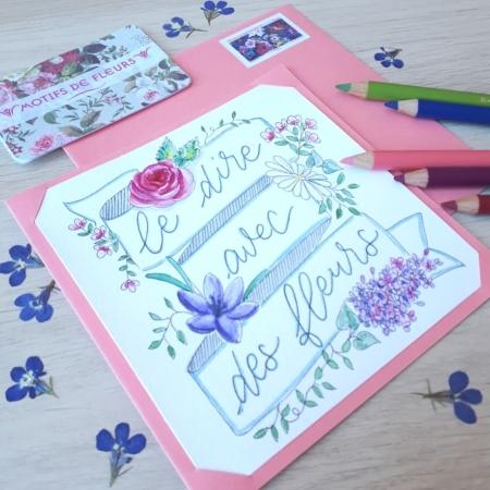Paper Break kit mail art Motifs de fleurs