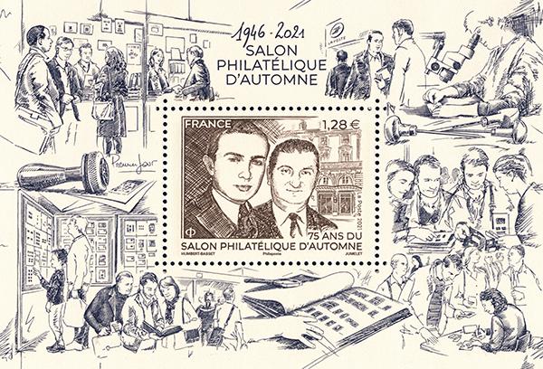 Bloc 1946 – 2021 Salon Philatélique d'Automne
